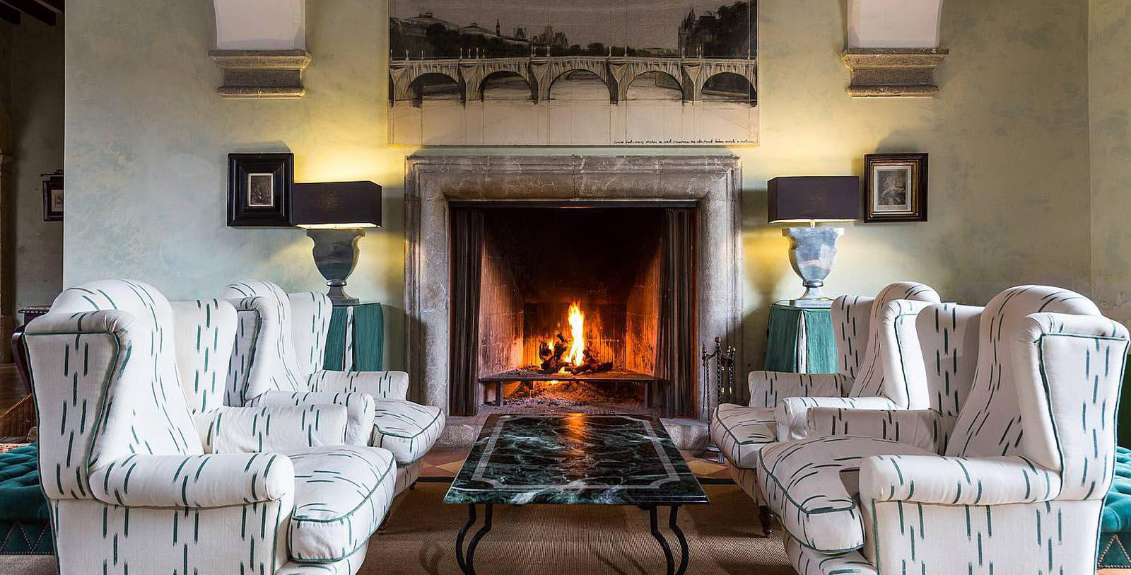Image of Lobby Fireplace, Gran Hotel Son Net, Puigpunyent, Spain, 1672, Member of Historic Hotels Worldwide, Discover