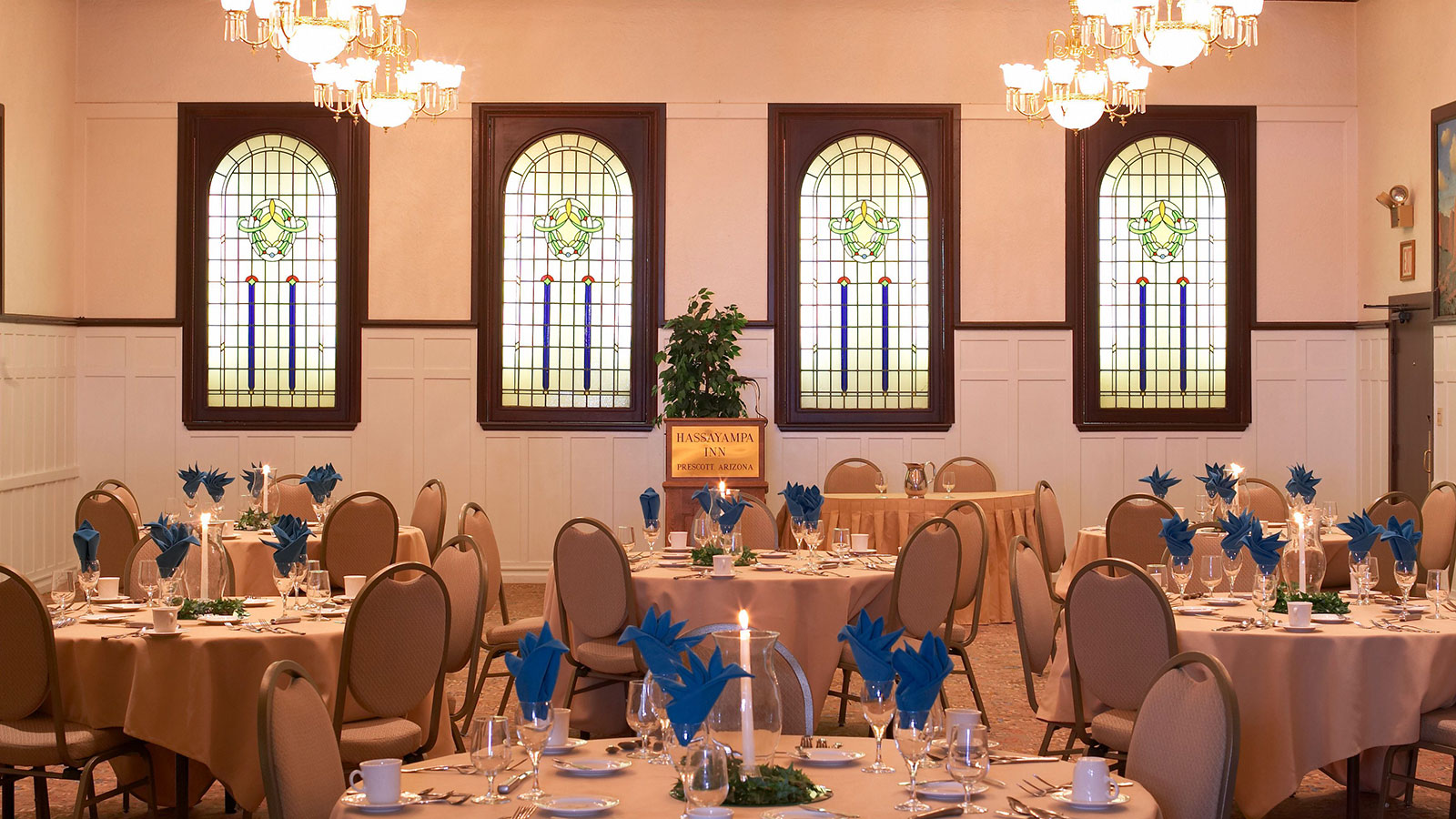 Image of banquet meeting event space Hassayampa Inn, 1927, Member of Historic Hotels of America, in Prescott, Arizona, Special Occasions