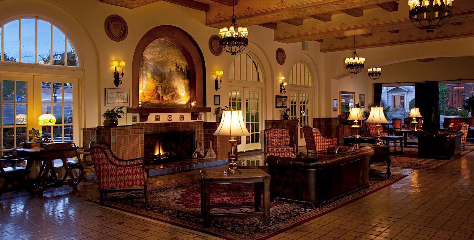 Image of lobby lounge area Hassayampa Inn, 1927, Member of Historic Hotels of America, in Prescott, Arizona, Explore