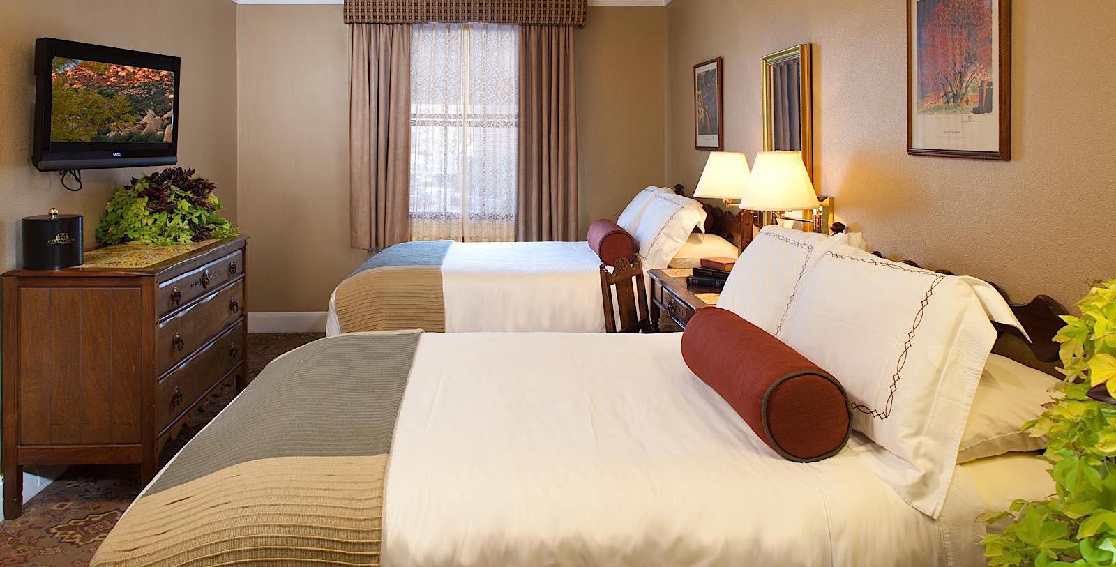 Image of guestroom Hassayampa Inn, 1927, Member of Historic Hotels of America, in Prescott, Arizona, Location Map