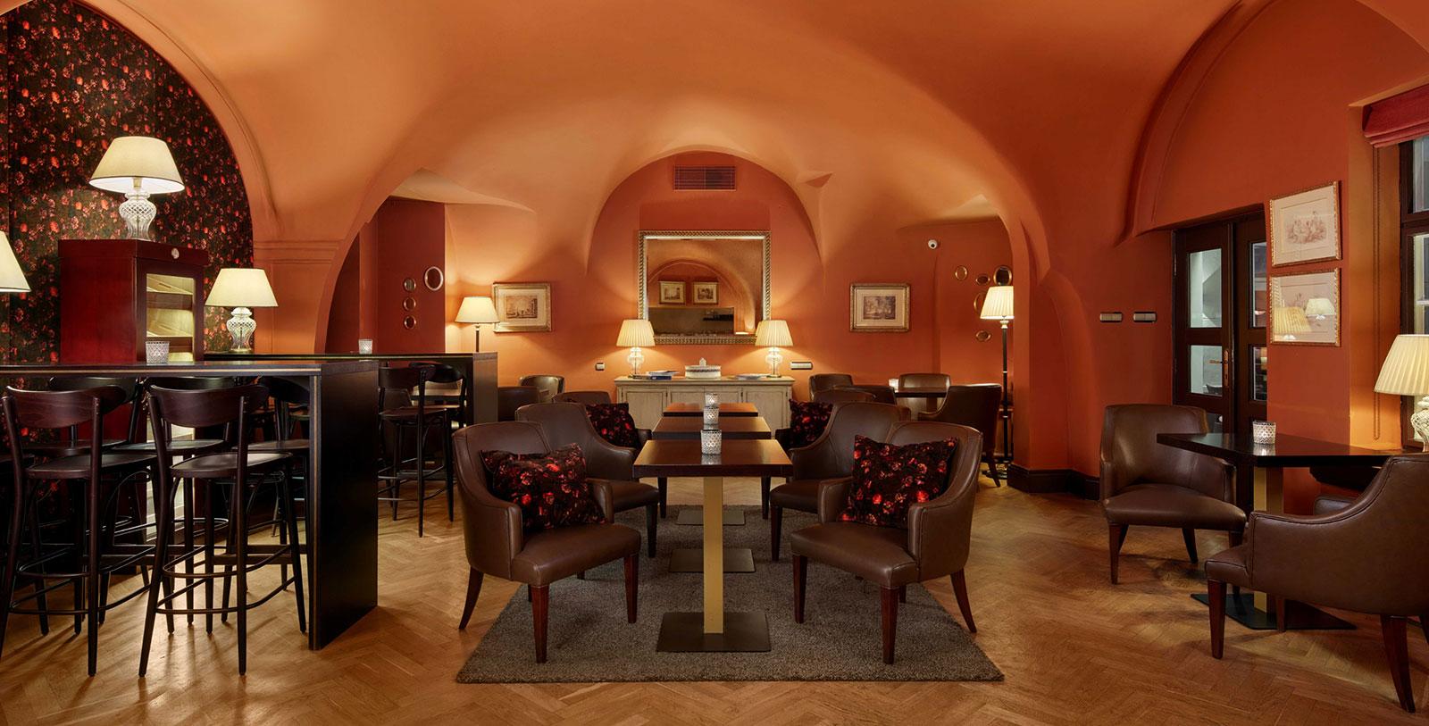 Image of Chapel Room Cigar Bar, The Mozart Prague, 1770, Member of Historic Hotels Worldwide, Prague, Czech Republic, Request For Proposal