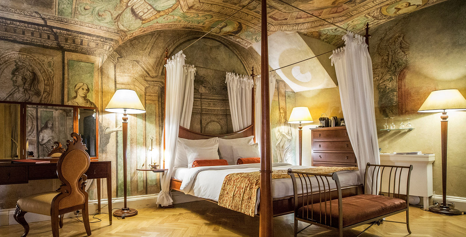 Image of deluxe baroque room, The Mozart Prague, 1770, Member of Historic Hotels Worldwide, Prague, Czech Republic, Discover