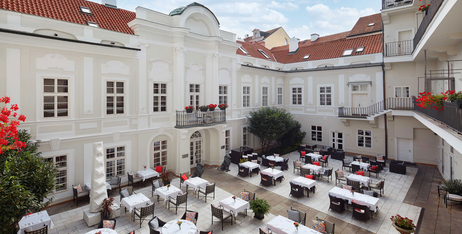 Image of Event Dining in Courtyard, The Mozart Prague, 1770, Member of Historic Hotels Worldwide, Prague, Czech Republic, Special Occasions