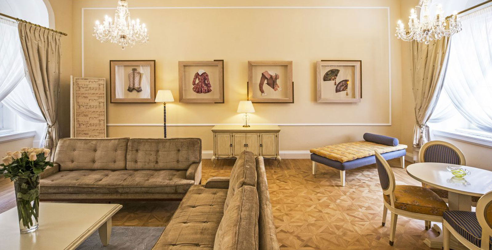 Image of Mozart Suite Living Room, The Mozart Prague, 1770, Member of Historic Hotels Worldwide, Prague, Czech Republic, Hot Deals