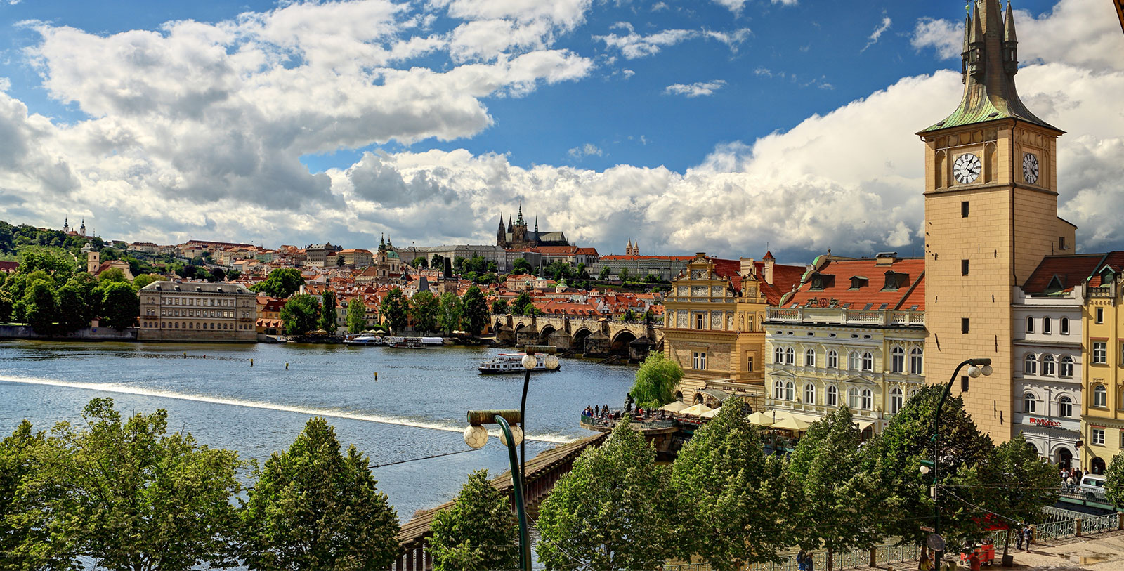 Image of View of Charles Bridge from hotel, The Mozart Prague, 1770, Member of Historic Hotels Worldwide, in Prague, Czech Republic, Explore