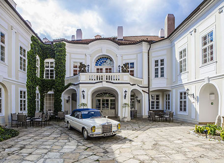 Image of Exterior of The Mozart Prague, 1770, Member of Historic Hotels Worldwide, Prague, Czech Republic, Special Offers, Discounted Rates, Families, Romantic Escape, Honeymoons, Anniversaries, Reunions