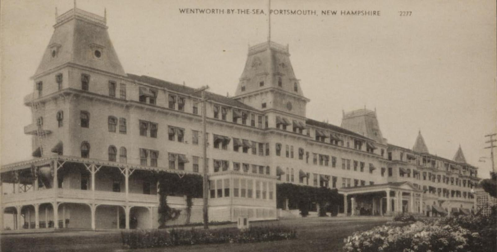 Image of Historic Exterior, Wentworth by the Sea, New Castle, New Hampshire, 1874, Member of Historic Hotels of America, Discover