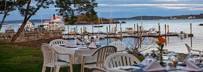 Dining at      The Inn at Diamond Cove  in Portland