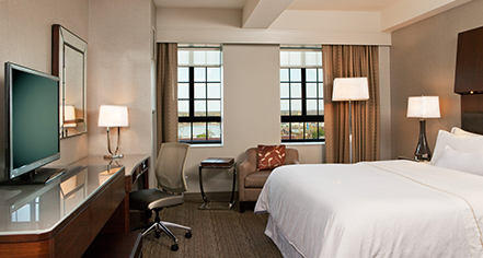 traditional guestroom at the westin portland harborview. Black Bedroom Furniture Sets. Home Design Ideas