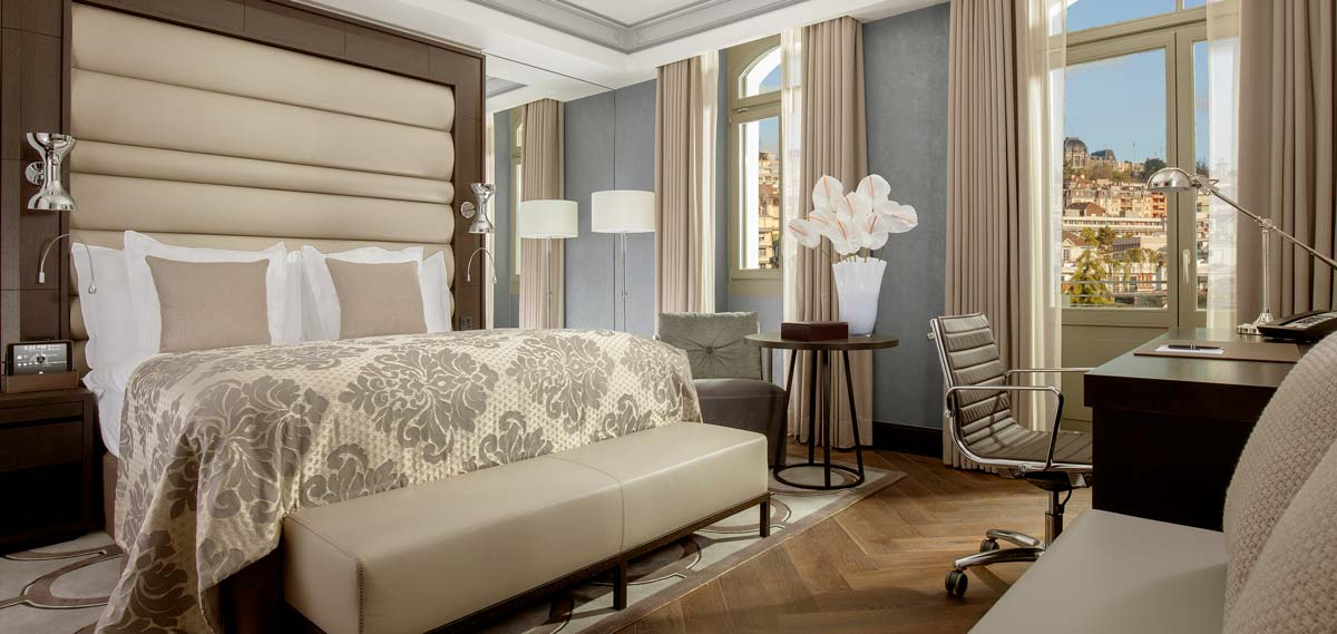 Accommodations:      Royal Savoy Hotel & Spa Lausanne  in Lausanne-Ouchy