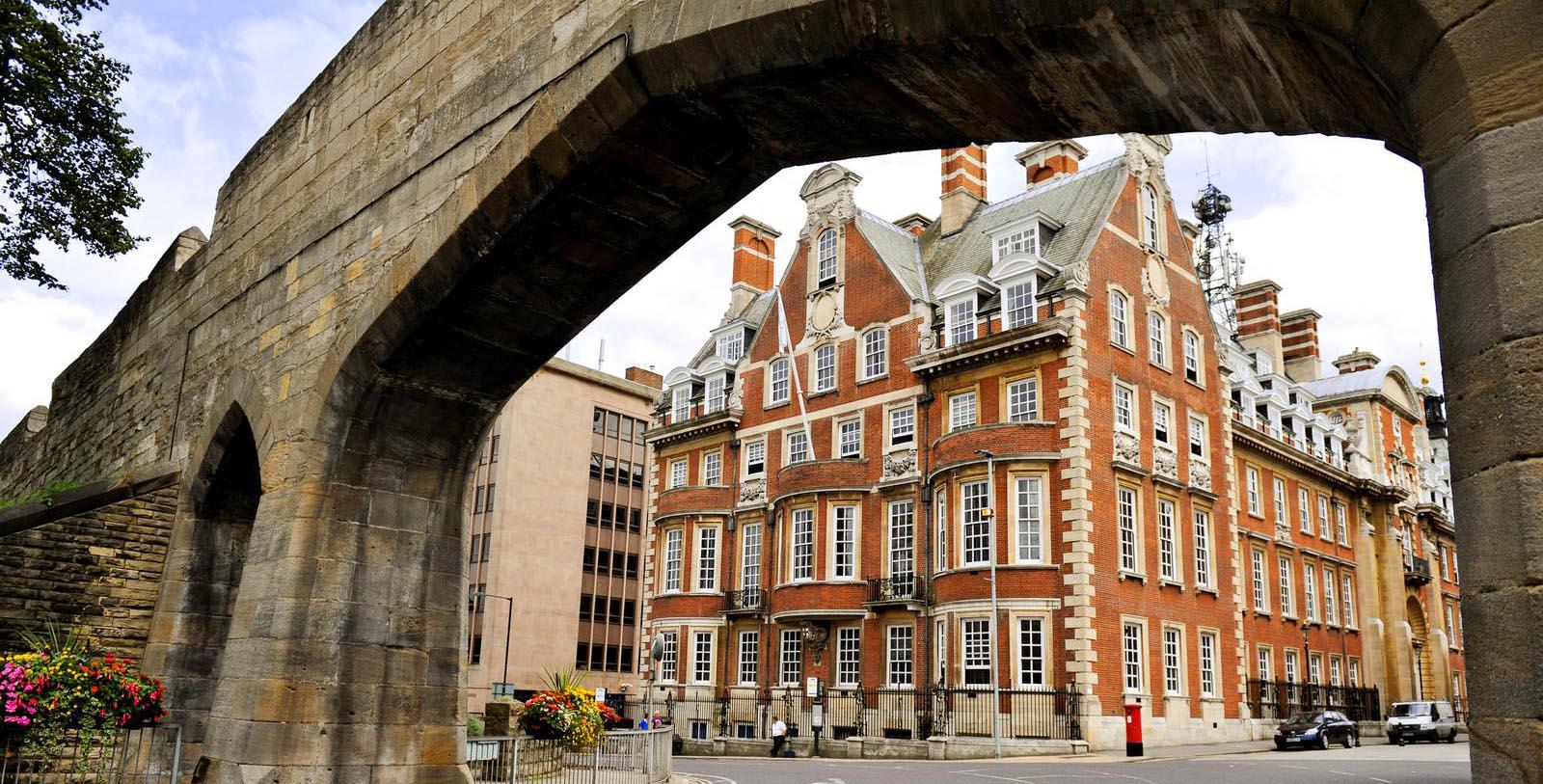 Image of Archway and Hotel Exterior The Grand York, 1906, Member of Historic Hotels Worldwide, in York, England, United Kingdom, Discover
