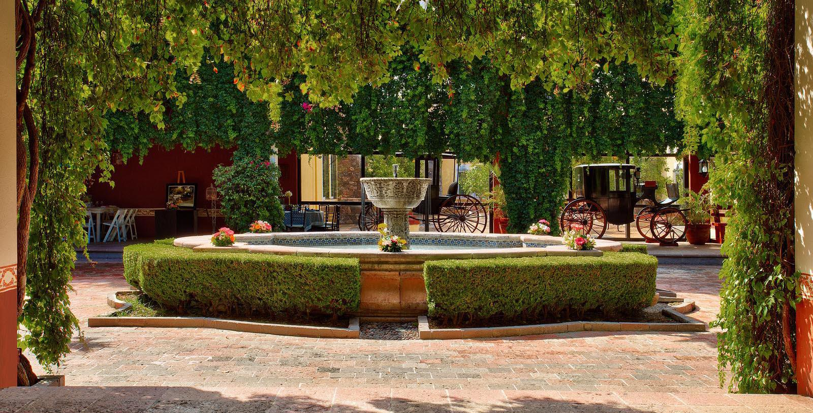 Image of COurtyard Fountain, Hacienda Jurica by Brisas, Queretaro, Mexico, 1551, Member of Historic Hotels Worldwide, Explore
