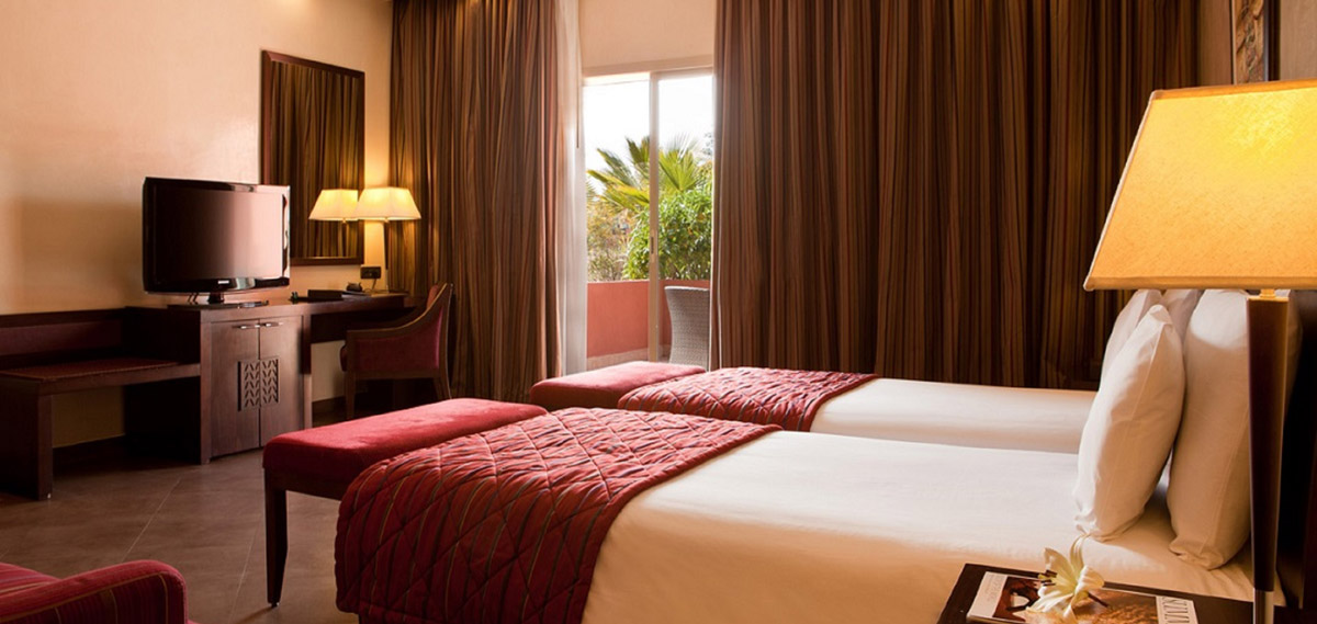 Accommodations:      Kenzi Menara Palace  in Marrakech