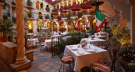 Dining at      The Mission Inn Hotel & Spa  in Riverside
