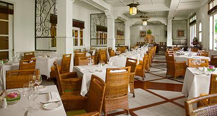 Dining at      Raffles Grand Hotel D'Angkor  in Siem Reap
