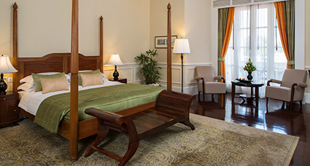 Accommodations:      Raffles Grand Hotel D'Angkor  in Siem Reap