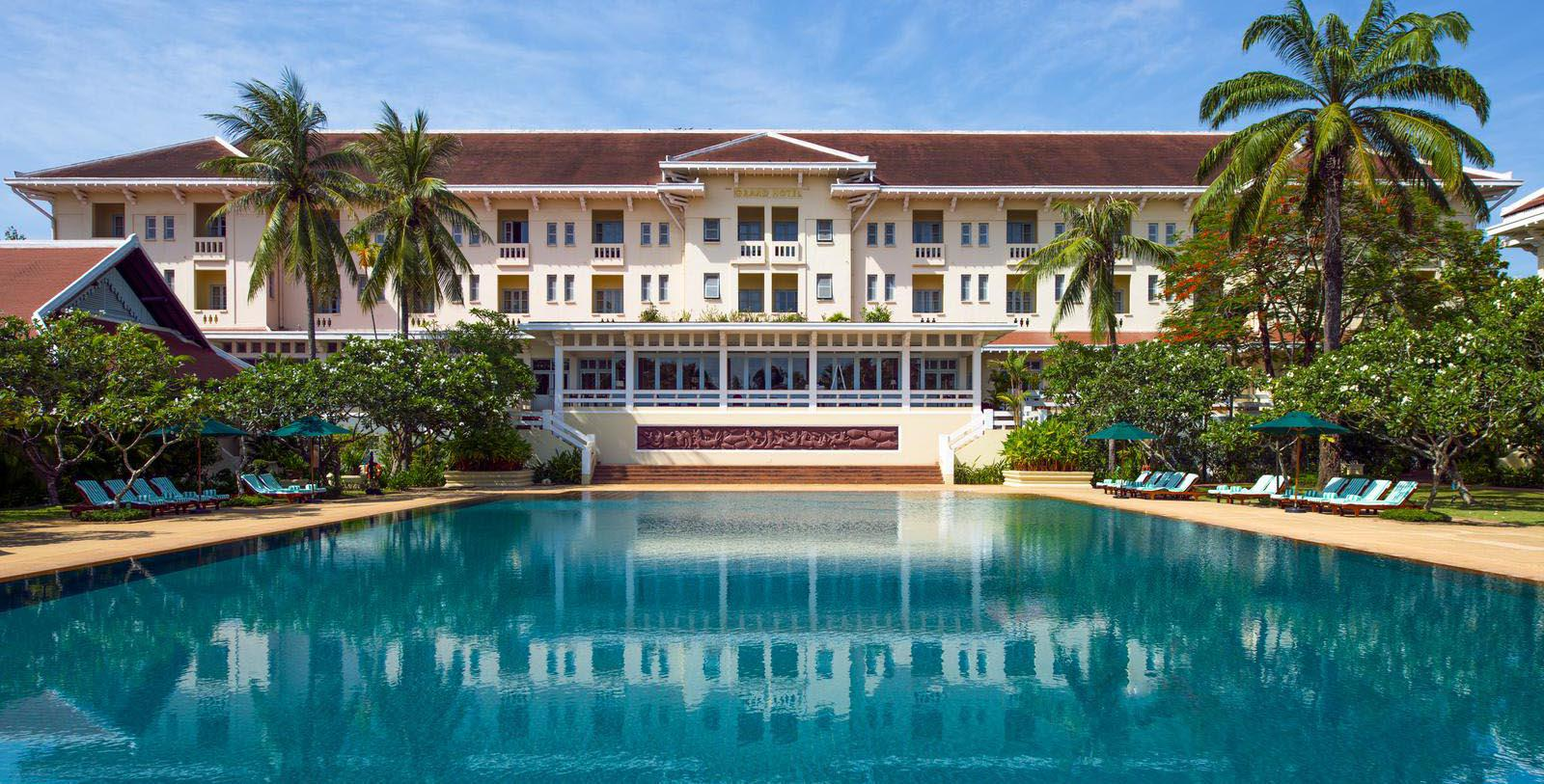 Image of Pool Raffles Grand Hotel D'Angkor, 1932, Member of Historic Hotels Worldwide, in Siem Reap, Cambodia, Special Offers, Discounted Rates, Families, Romantic Escape, Honeymoons, Anniversaries, Reunions
