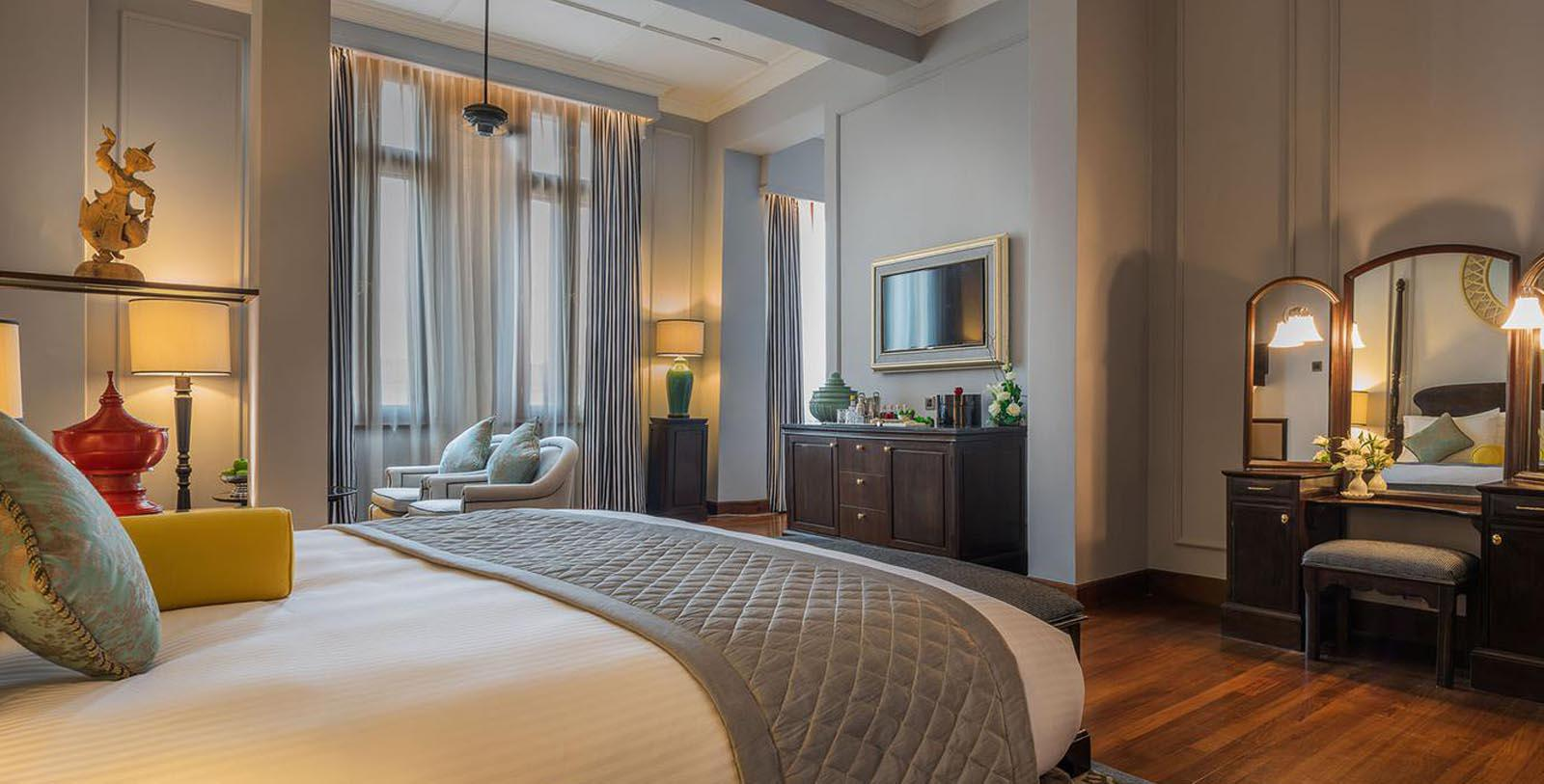 Image of Suite at The Strand Hotel, 1901, Member of Historic Hotels Worldwide, in Yangon, Myanmar, AccommodationsImage of Guestroom at The Strand Hotel, 1901, Member of Historic Hotels Worldwide, in Yangon, Myanmar, Accommodations