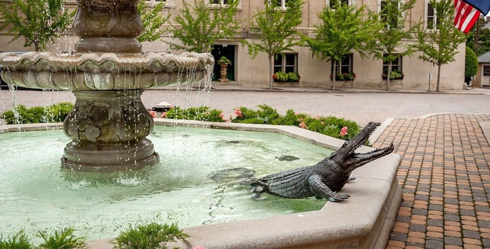 Image of Exterior Fountain with Alligator at The Jefferson Hotel, a member of Historic Hotels of America, in Richmond, Virginia