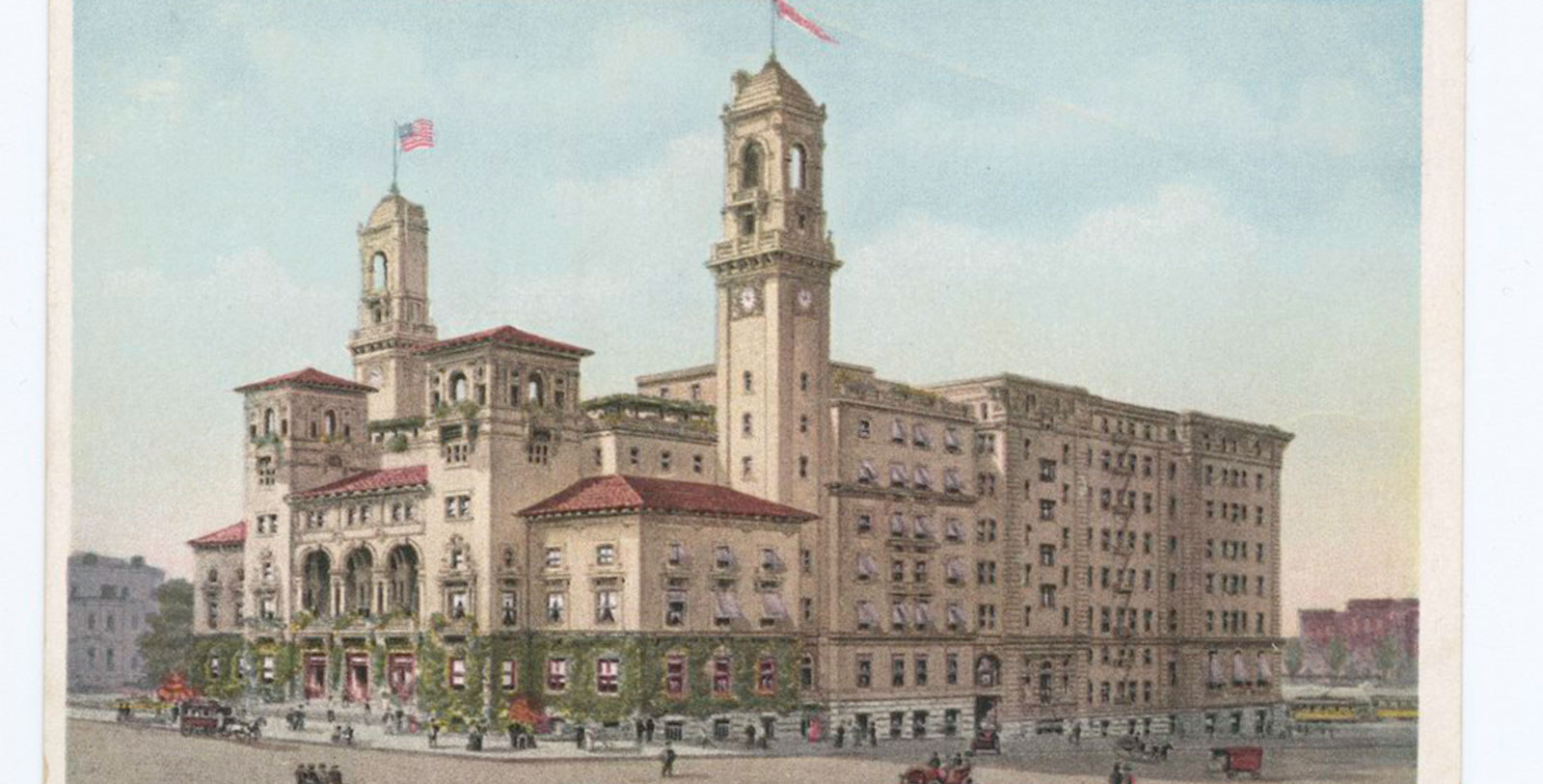 Image of Historic Exterior Postcard, The Jefferson Hotel, a member of Historic Hotels of America, in Richmond, Virginia