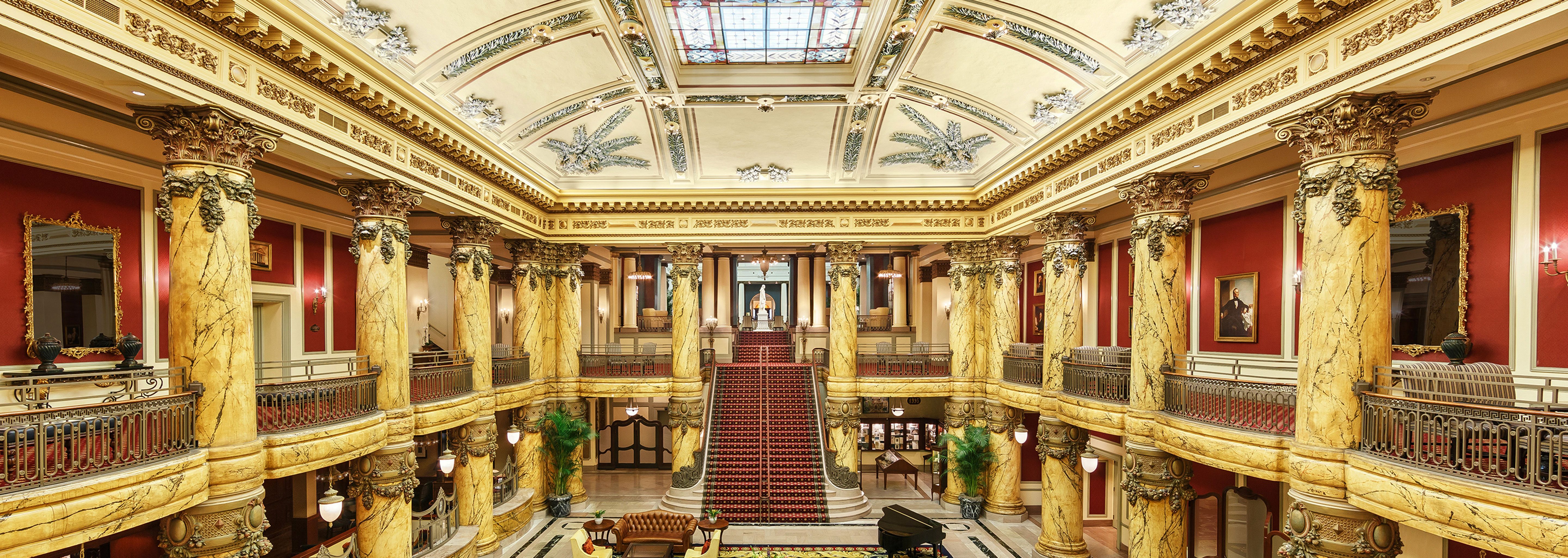 Image of Rotunda and Staircase at The Jefferson Hotel, a member of Historic Hotels of America, in Richmond, Virginia