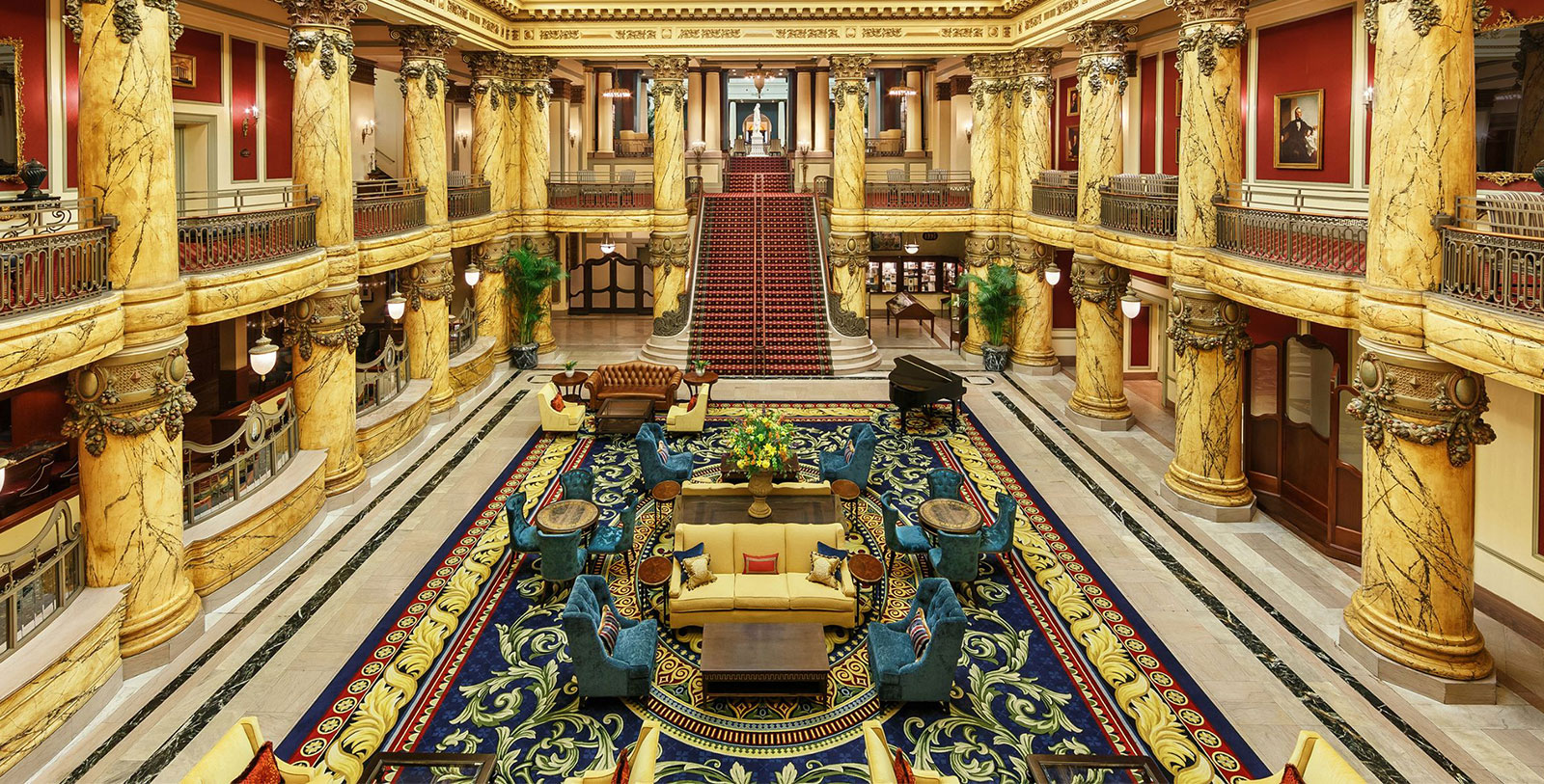 Image of Lobby The Jefferson Hotel, 1895, Member of Historic Hotels of America, in Richmond, Virginia, Hot Deals