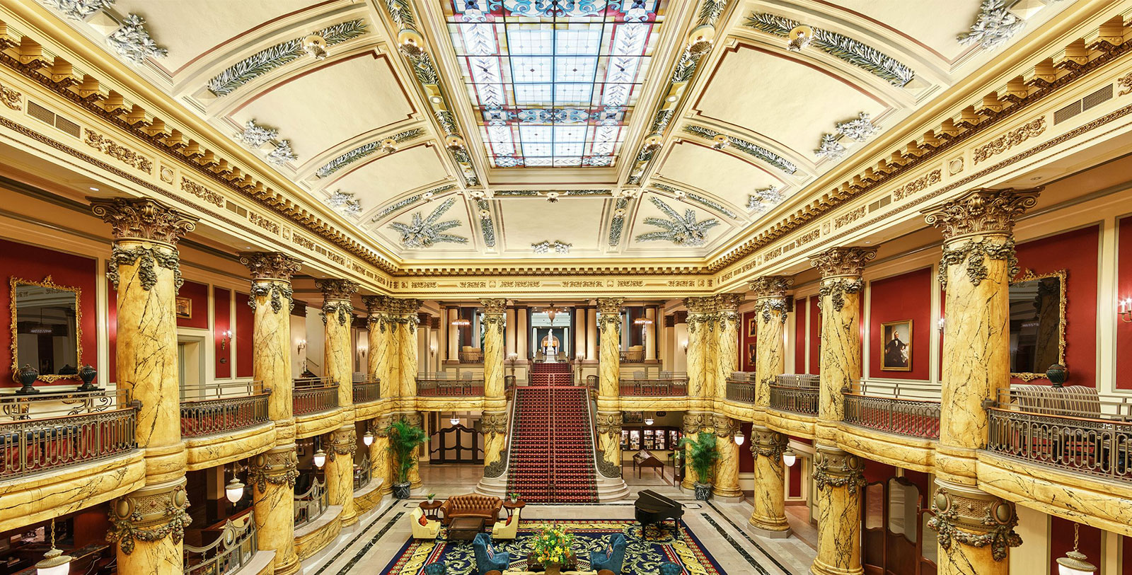 Image of Rotunda with Grand Staircase The Jefferson Hotel, 1895, Member of Historic Hotels of America, in Richmond, Virginia, Discover