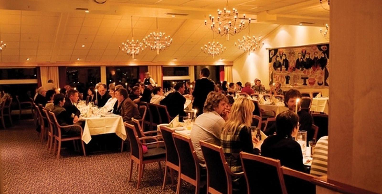 Image of Dining Room at Brasseriet at Roros Hotel, 1951, Member of Historic Hotels Worldwide, in Roros, Norway, Taste