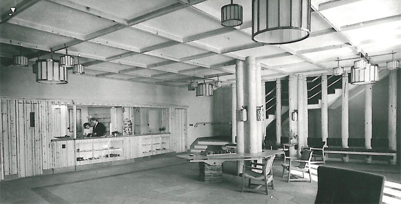 Historic Image of Hotel Lobby at Roros Hotel, 1951, Member of Historic Hotels Worldwide, in Roros, Norway, Discover