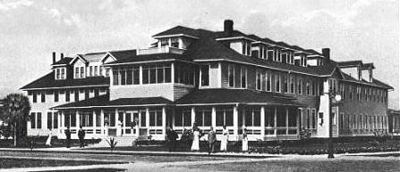 Historical Image of Exterior, The Gasparilla Inn & Club, 1913, Member of Historic Hotels of America, in Boca Grande, Florida.