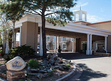 Image of Hotel Exterior, Hilton Santa Fe Historic Plaza in Santa Fe, New Mexico, 1625, Member of Historic Hotels of America, Special Offers, Discounted Rates, Families, Romantic Escape, Honeymoons, Anniversaries, Reunions
