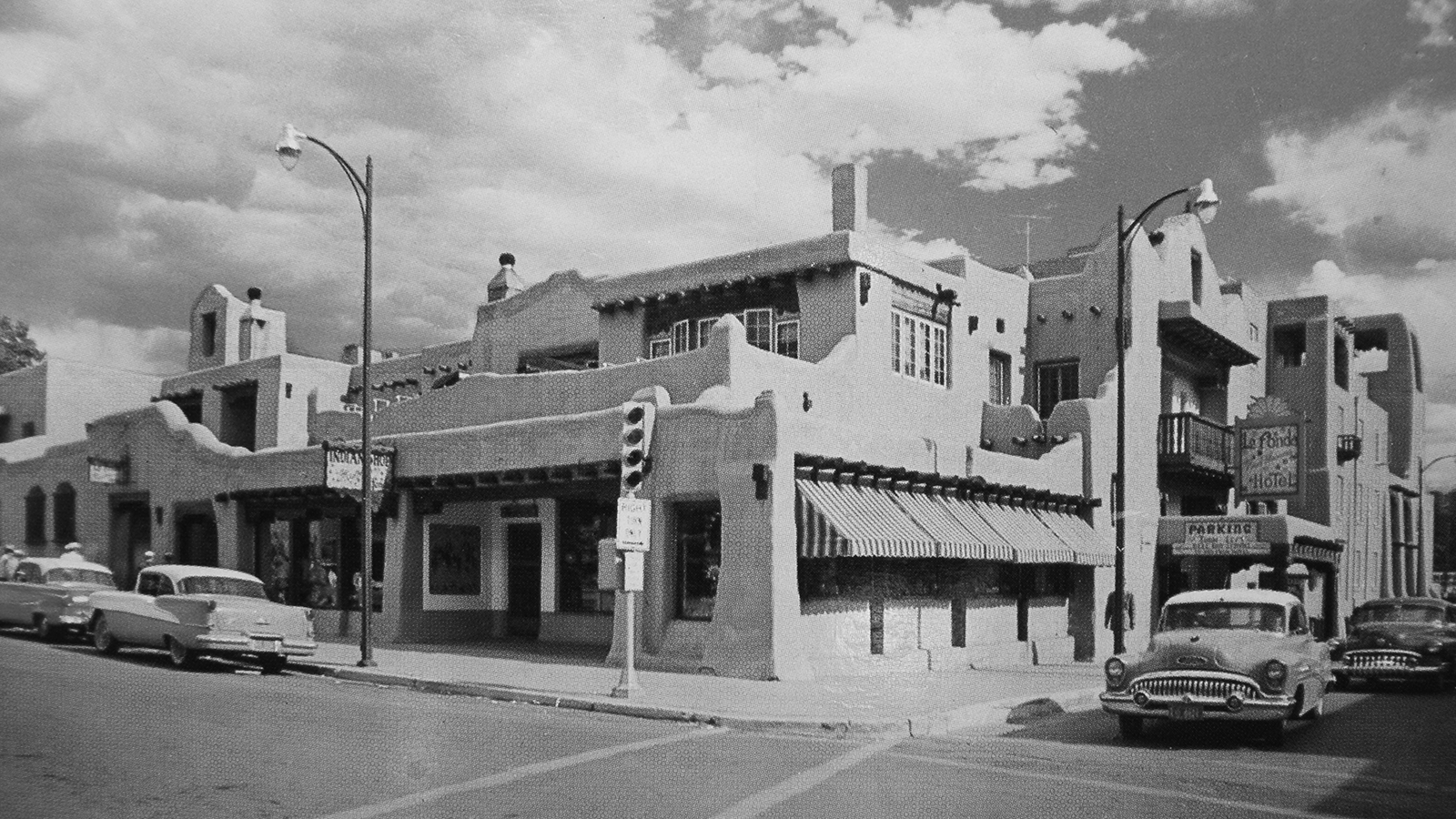 Image of Historic Exterior, La Fonda in Santa Fe, New Mexico, 1922, Member of Historic Hotels of America, Discover