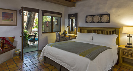 Accommodations:      La Posada de Santa Fe, A Tribute Portfolio Resort & Spa  in Santa Fe