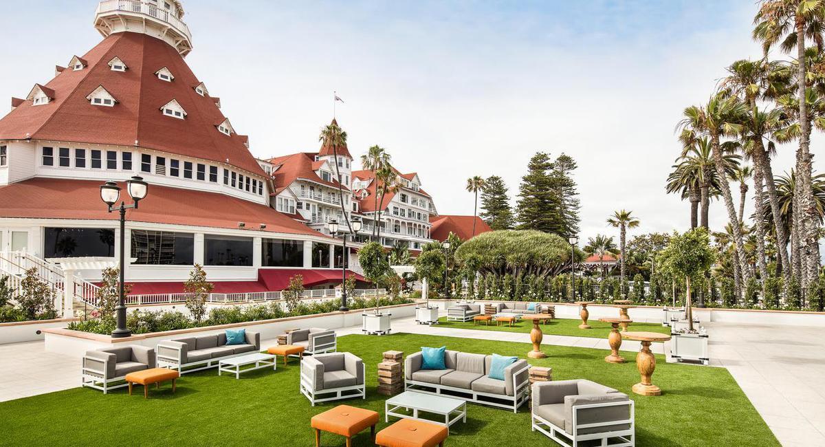 Image of Exterior with Grounds, Hotel del Coronado in Coronado, California, 1888, Member of Historic Hotels of America, Hot Deals