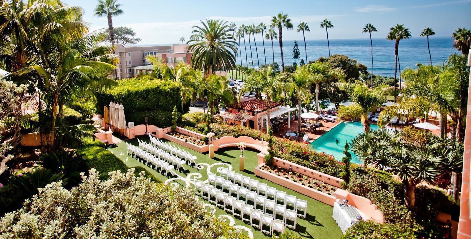 Image of Event in EL Jardin, La Valencia Hotel in La Jolla, Califronia, 1926, Member of Historic Hotels of America, Experience