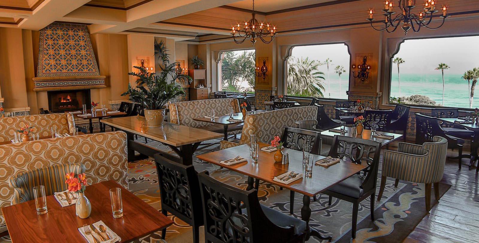 Image of La Sala Restaurant, La Valencia Hotel in La Jolla, Califronia, 1926, Member of Historic Hotels of America, Taste