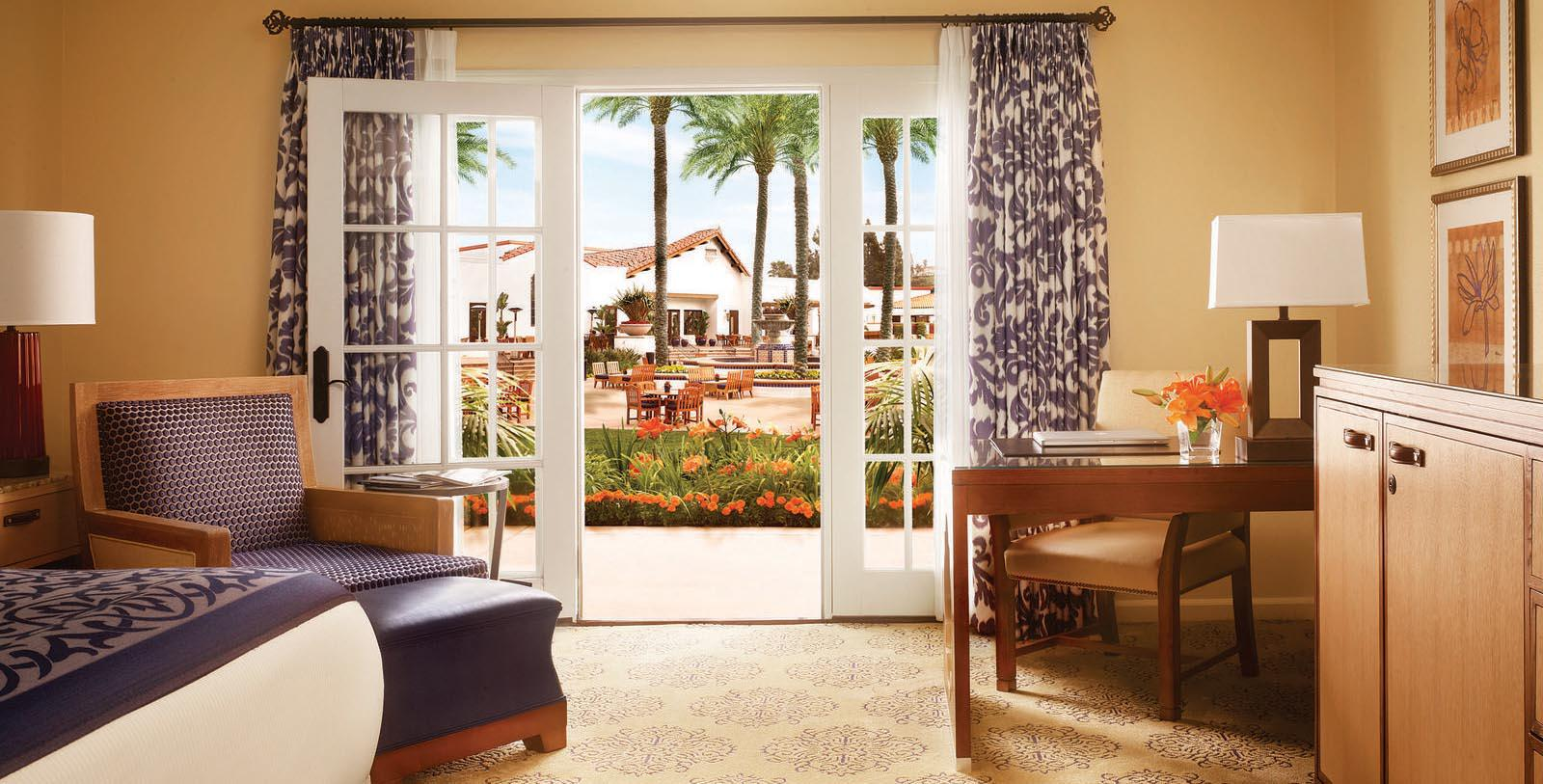 Image of Guestroom Interior & View, Omni La Costa Resort & Spa, Carlsbad, California, 1965, Member of Historic Hotels of America, Accommodations