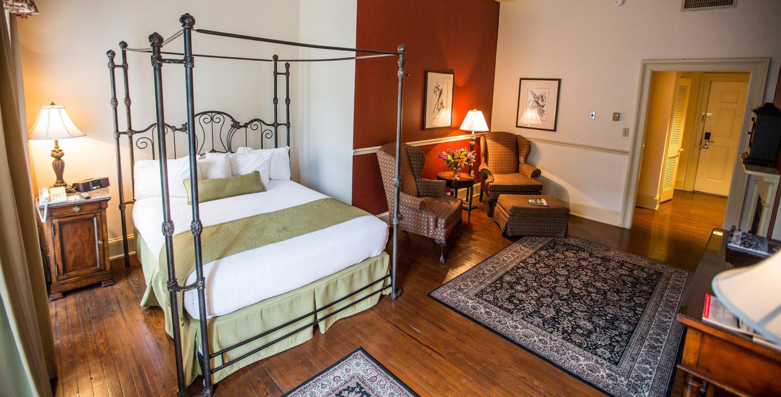 Image of Luxurious Guestroom River Street Inn, 1817, Member of the Historic Hotels of America, in Savannah, Georgia, Explore