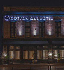 History:      The Cotton Sail Hotel  in Savannah