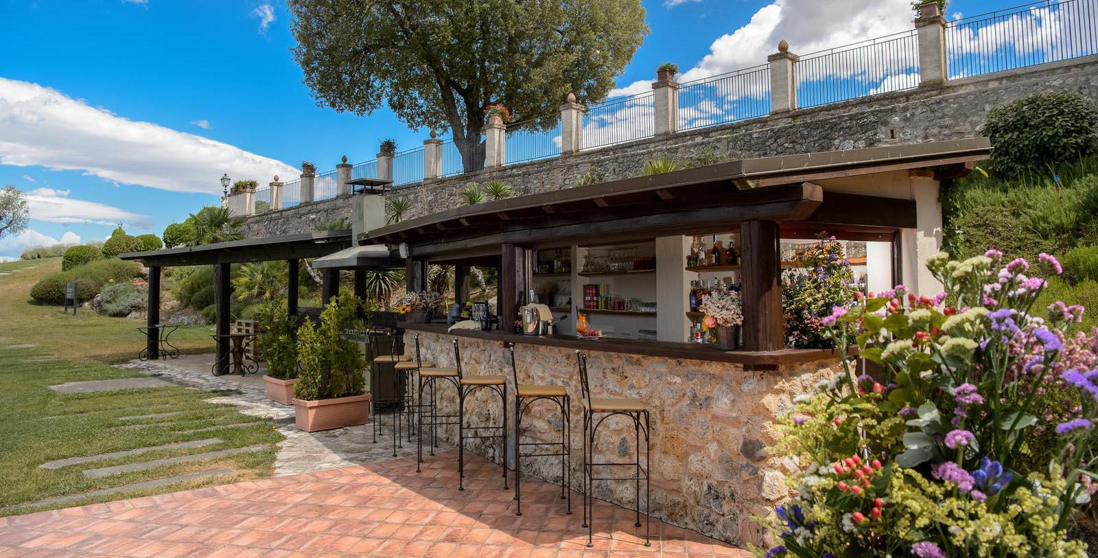 Image of Outdoor Bar La Bagnaia Golf & Spa Resort Siena, Curio Collection by Hilton, 11th Century, Member of Historic Hotels Worldwide, in Siena, Italy, Explore