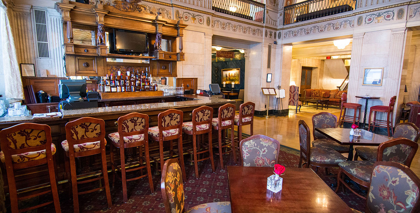 Image of Lobby Bar, The Brown Hotel, 1923, Member of Historic Hotels of America, in Louisville, Kentucky, Dining