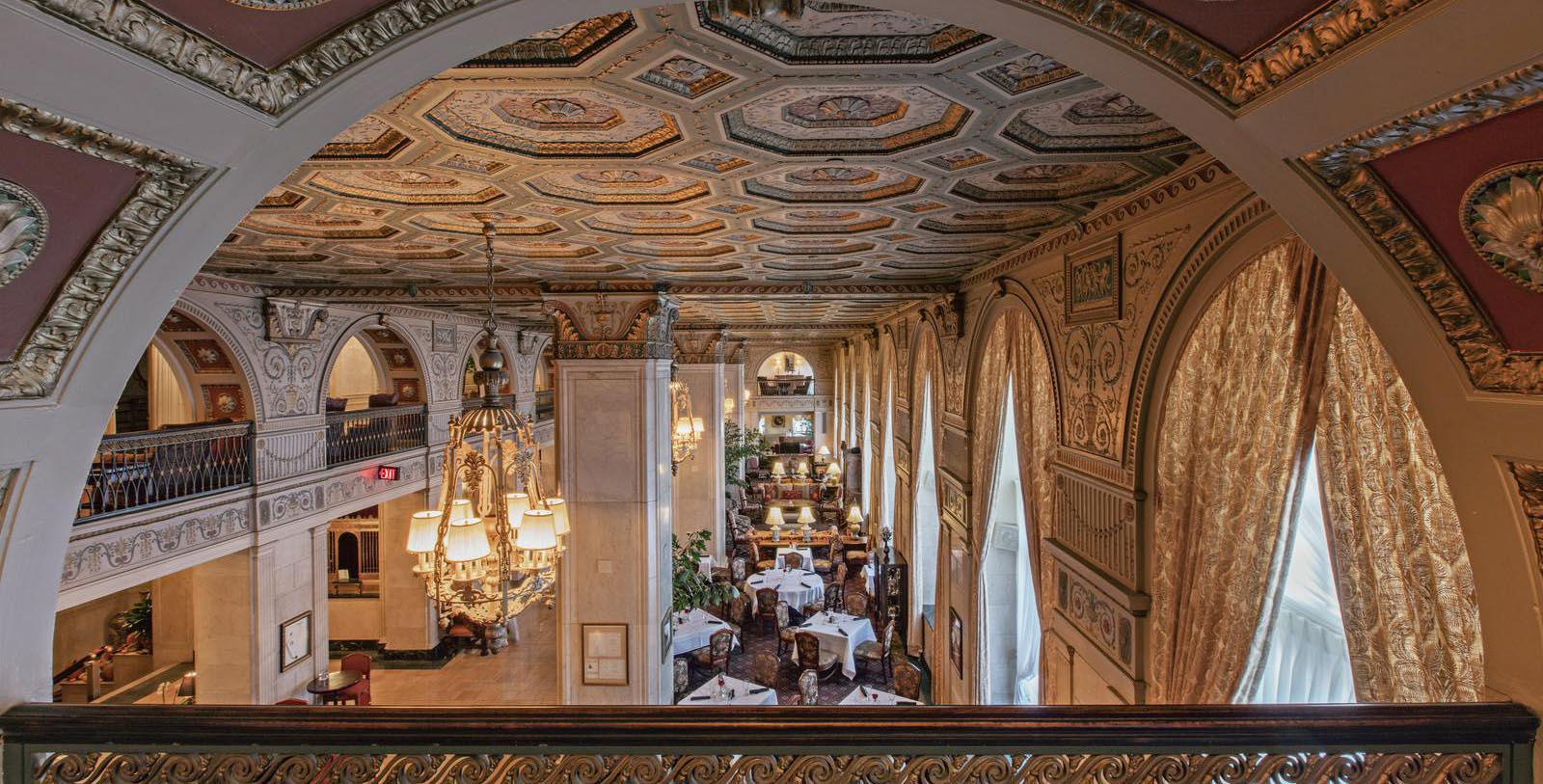 Image of Ceiling The Brown Hotel, 1923, Member of Historic Hotels of America, in Louisville, Kentucky, Discover