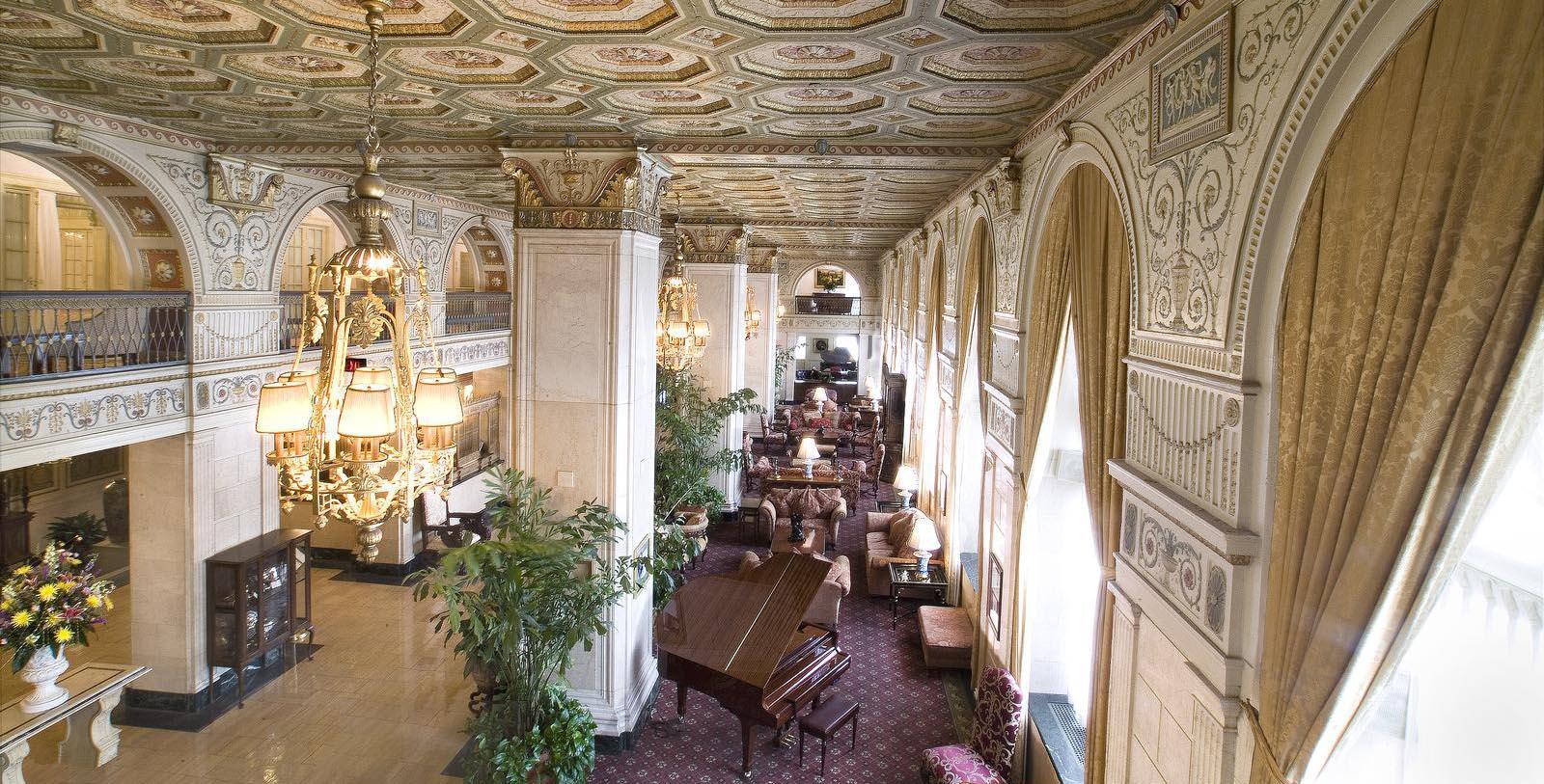 Image of Lobby The Brown Hotel, 1923, Member of Historic Hotels of America, in Louisville, Kentucky, Hot Deals