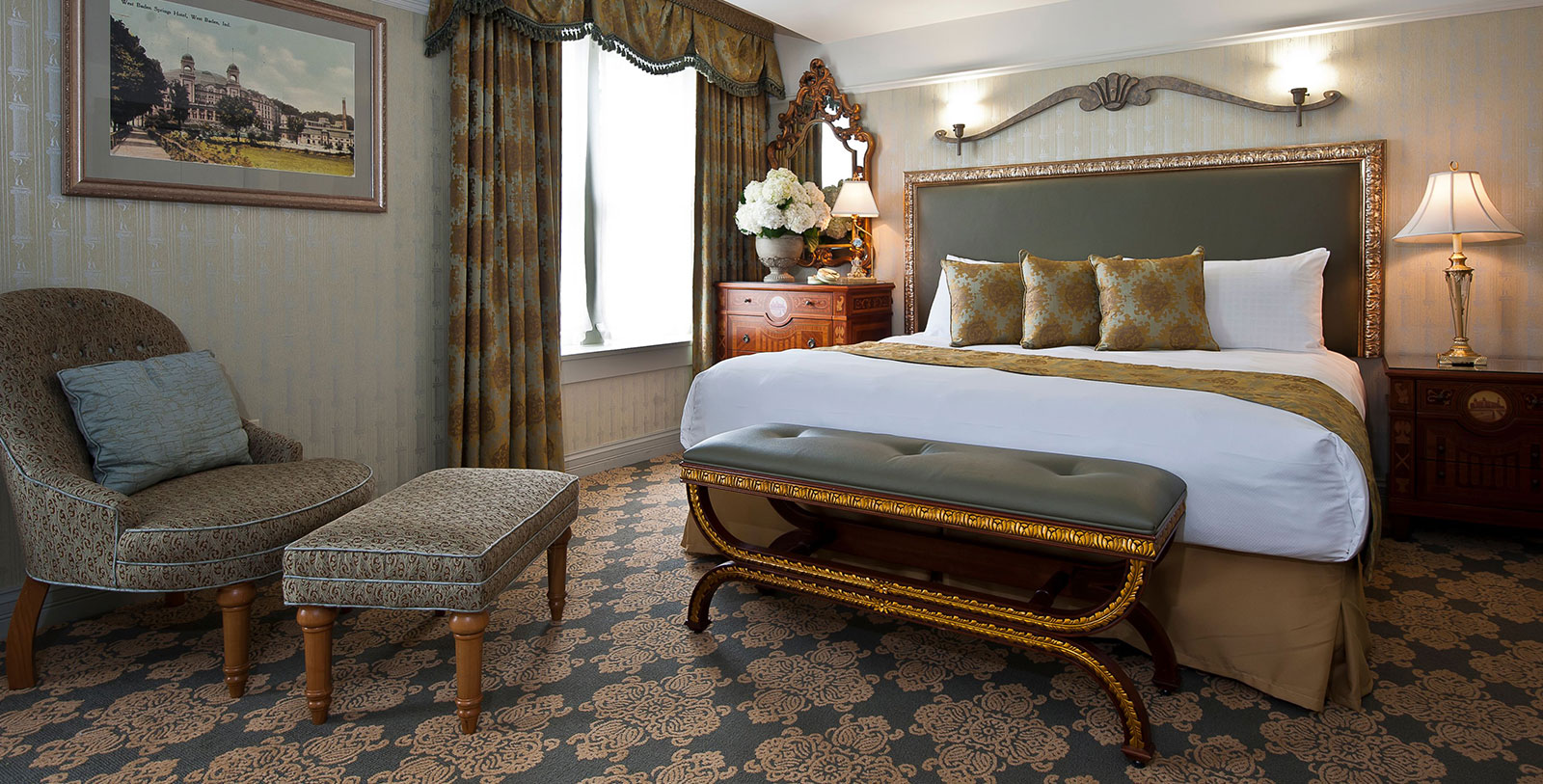 Image of guestroom at French Lick Springs Hotel, 1845, Member of Historic Hotels of America, in French Lick, Indiana, Accommodations