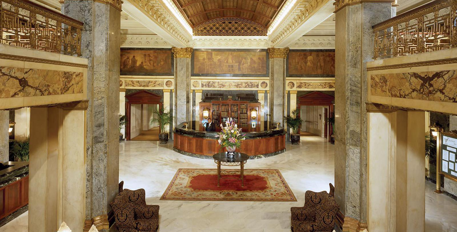 Image of Hotel Lobby at The Seelbach Hilton Louisville, 1905, Member of Historic Hotels of America, in Louisville, Kentucky, Explore