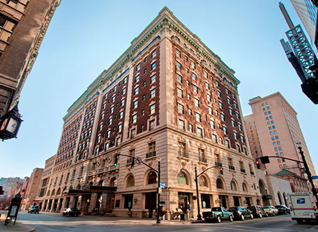 Image of Hotel Exterior The Seelbach Hilton Louisville, 1905, Member of Historic Hotels of America, in Louisville, Kentucky, Special Offers, Discounted Rates, Families, Romantic Escape, Honeymoons, Anniversaries, Reunions