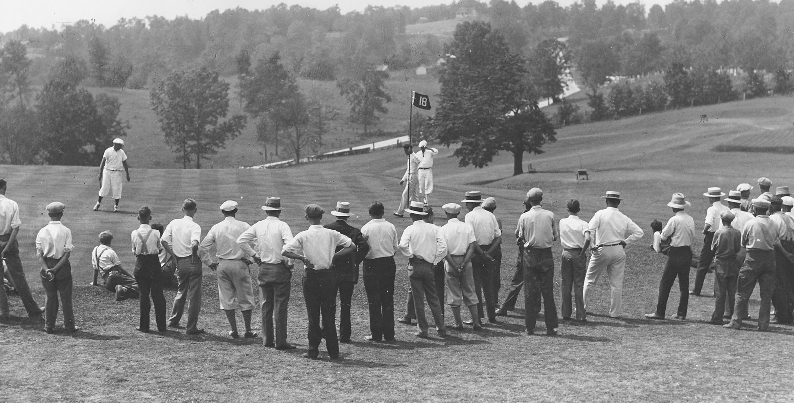 Historic Image of Donald Ross Golf Course circa 1917 at French Lick Springs Hotel Golf Course, West Baden Springs Hotel, 1902, Member of Historic Hotels of America, in West Baden Springs, Indiana, Golf
