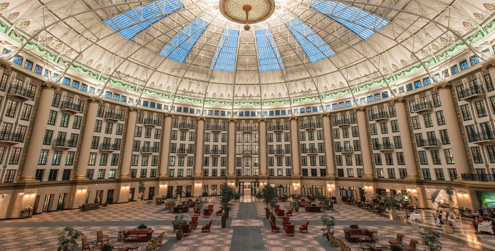 Image of dome room West Baden Springs Hotel, 1902, Member of Historic Hotels of America, in West Baden Springs, Indiana, Taste