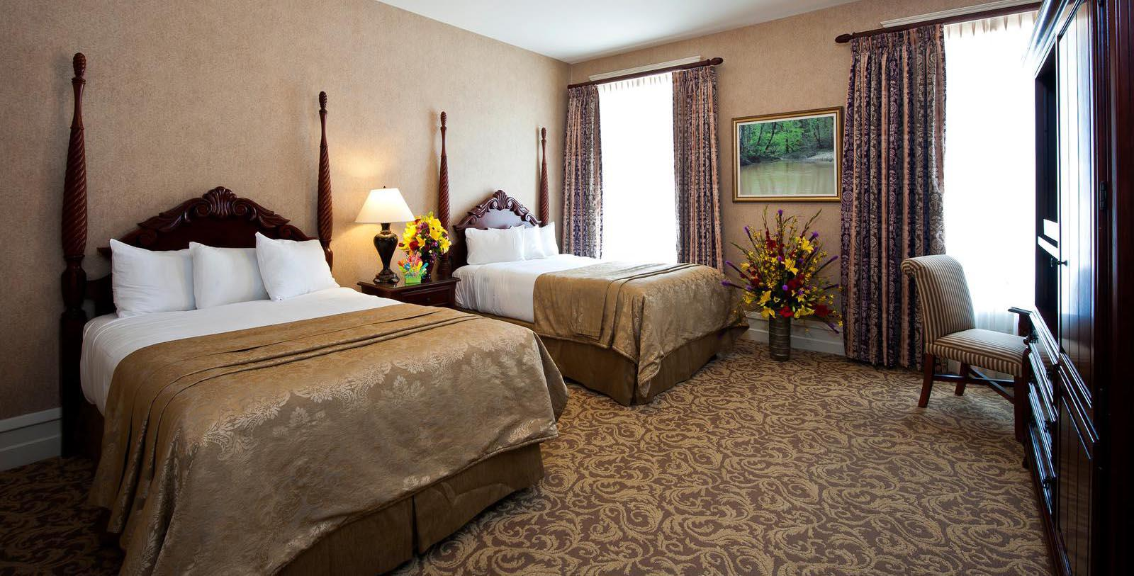 Image of guestroom West Baden Springs Hotel, 1902, Member of Historic Hotels of America, in West Baden Springs, Indiana, Location Map