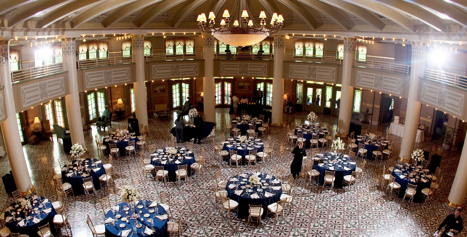 Image of Wedding Reception, West Baden Springs Hotel, 1902, Member of Historic Hotels of America, in West Baden Springs, Indiana, Weddings